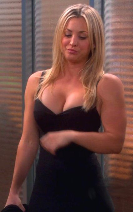 Kaley cuoco muscle