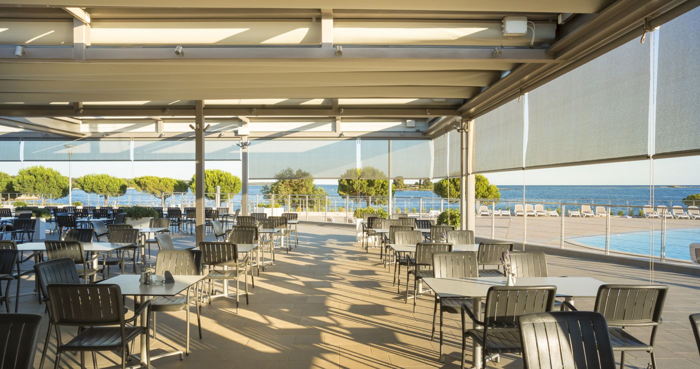 Villas Rubin in Rovinj @ Try the flavours of Istria at the Bonaca National Restaurant; enjoy hot crisp pizzas straight from the oven at Pizzeria Kantun or get refreshed at one of the 3 fresh corners around the resort.