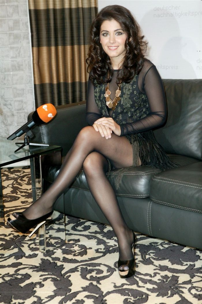 Isn T She Beautifully Sexy With Her Legs Crossed Black