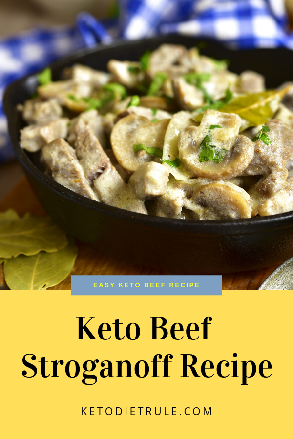 Beef Stroganoff Recipe With Sour Cream Low Carb Keto Meal Recipe Beef Stroganoff Stroganoff Recipe Food Recipes