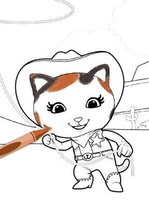Sheriff Callie Coloring Pages On Disney Junior Sheriff Callie