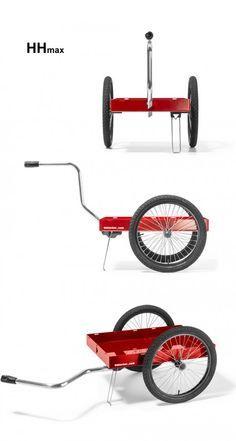 A Bike Trailer By Hinterher Anhangerkonzept Fahrrad Handwagen