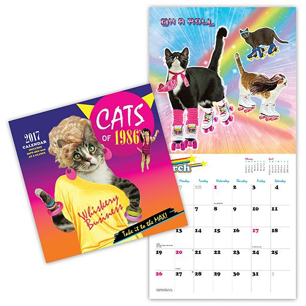 2017 Cats Of 1986 Wall Calendar Cat Calendar Cats Disney Cats
