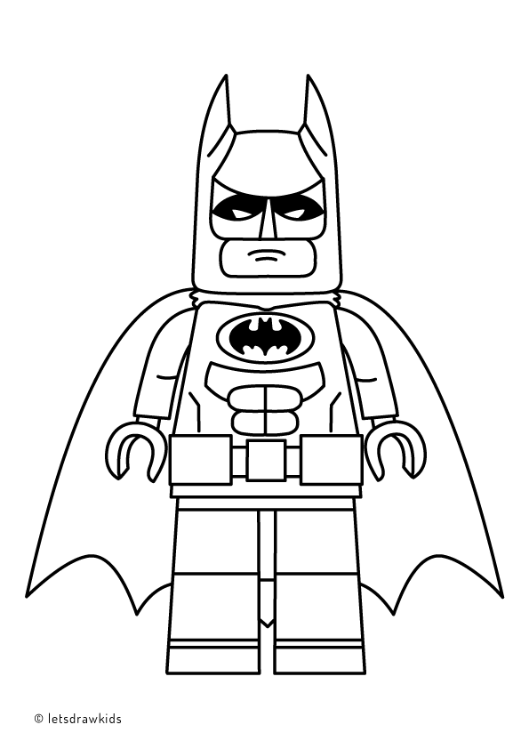 Coloring Page For Kids Lego Batman From The Lego Batman Movie