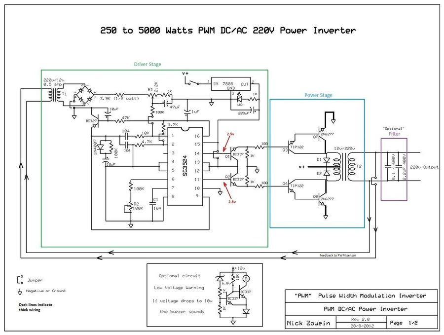 250 To 5000 Watts Pwm Dc Ac 220v Power Inverter In 2020 Power Inverters Circuit Diagram Acdc