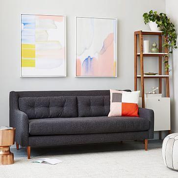 Hand Loomed Shine Rug Mountain Mist West Elm With Images Modern Furniture Living Room Modern Home Furniture Upholstered Sofa