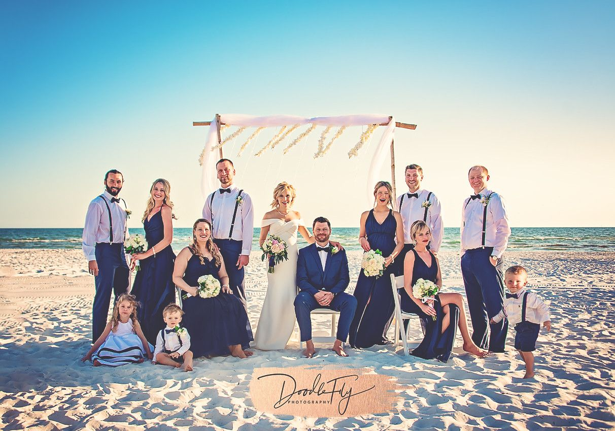 Wedding Party Portrait At Diamondhead Beach Resort Fort
