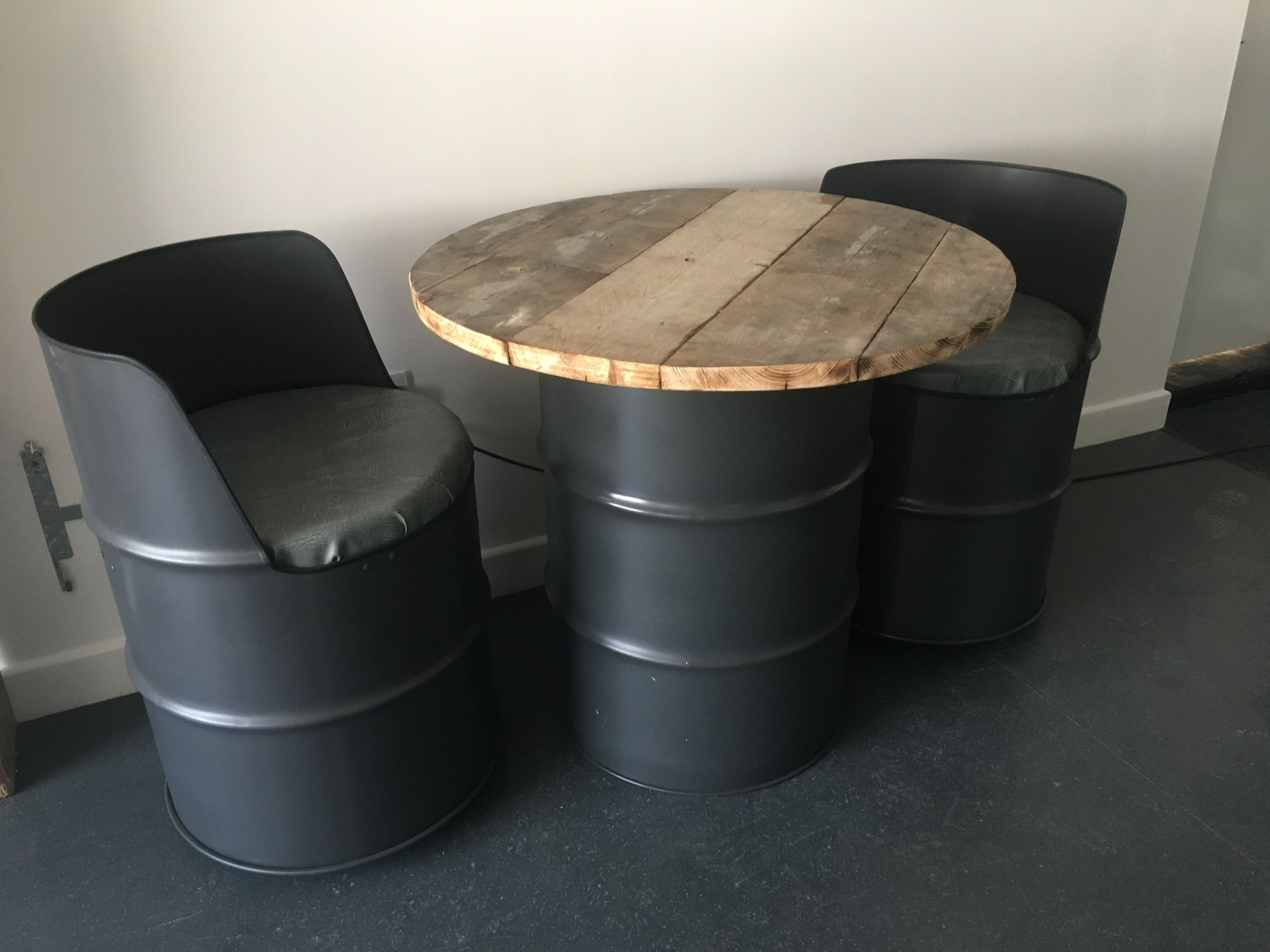 drum furniture tong oil drum seat table furniture recycled oil drums ideas