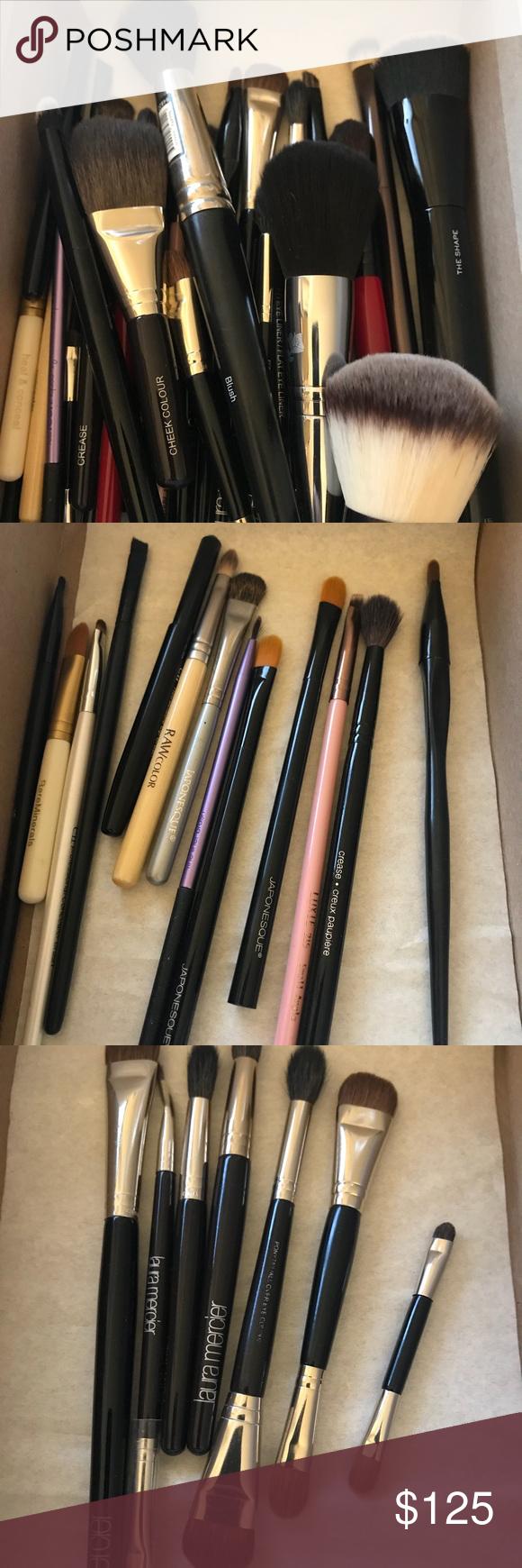 Marc jacobs Laura mercier Lancôme makeup brushes