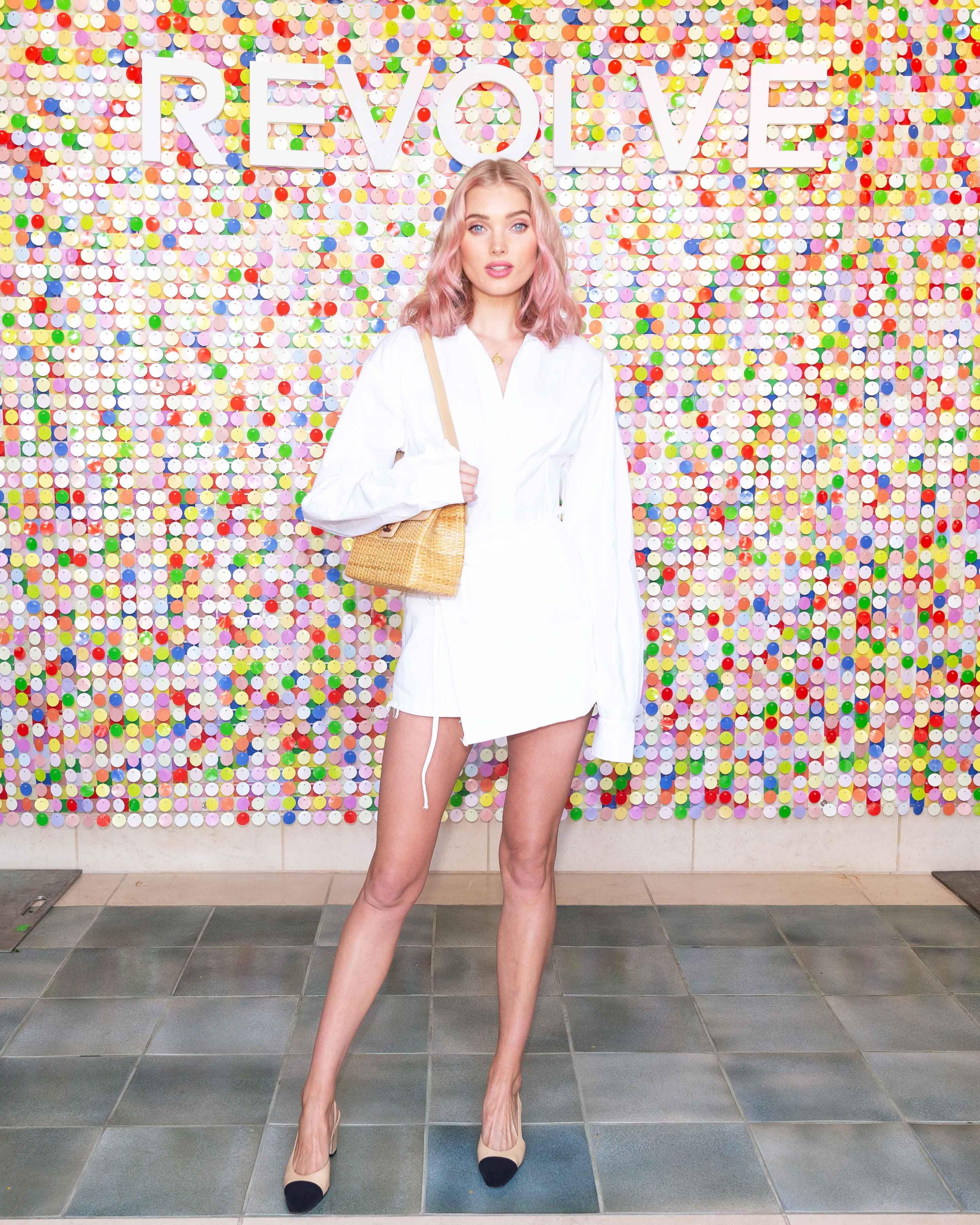 ad01c6ad19 Elsa Hosk - In an LPA top and GRLFRND skirt at Revolve Festival. The hair  and dress are just perfection.