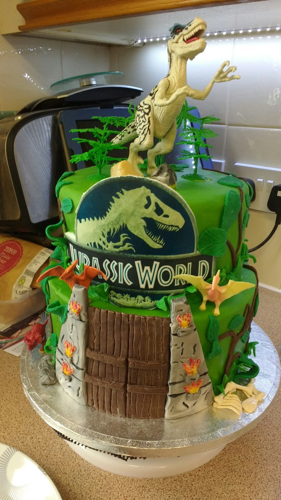 Jurassic world cake | Dinosaur birthday cakes, Dinosaur birthday, Kids  birthday