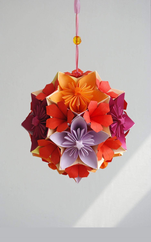 Mobile Flowers Japan Modern Origami Paper Flowers
