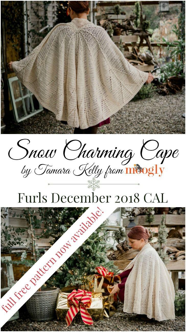 Furls December 2018 Crochet Along Snow Charming Cape Part