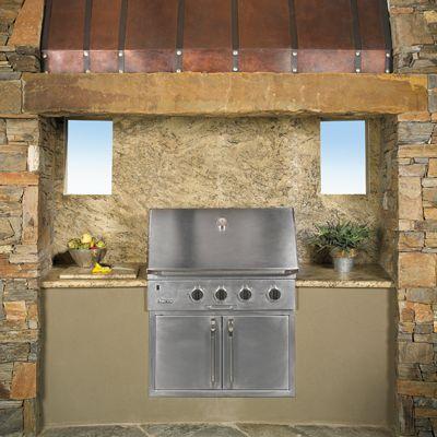 Built In Bbq Grill With Desert Amarillo Granite Surround Via Arizonatile Com With Images Built In Bbq Grill Outdoor Kitchen Built In Bbq