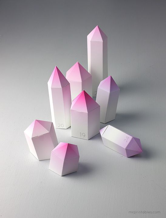 3d paper crystal templates holiday decoration free printables at
