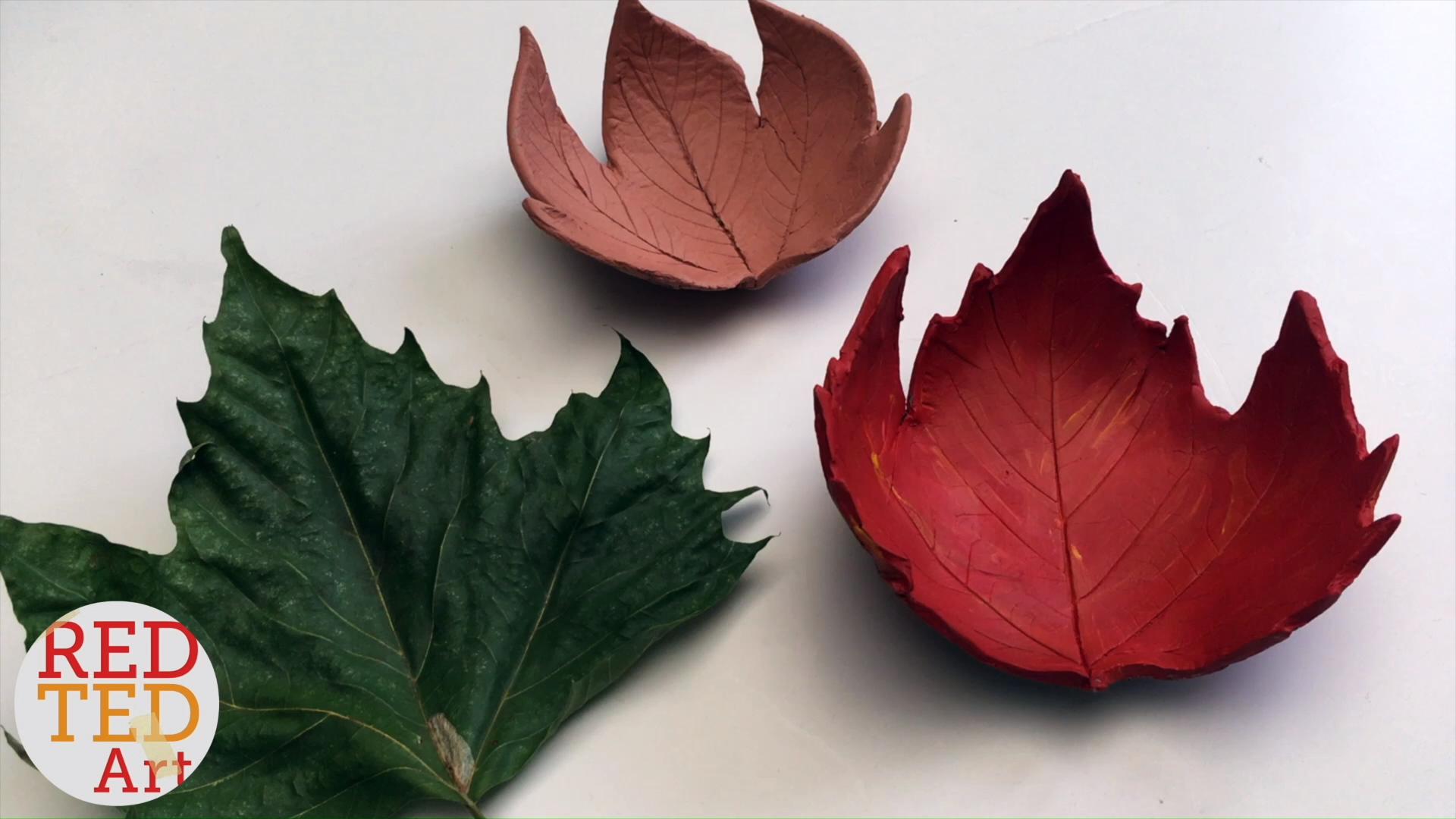 Easy Clay Leaf Bowls