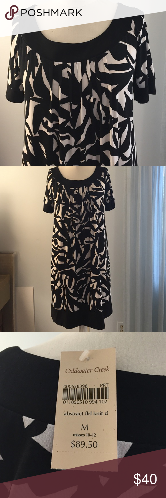 3-season easy care short sleeve shift dress. Super easy care wash & wear 95% polyester 5% spandex dress. Brand new, tags attached. Coldwater Creek Dresses