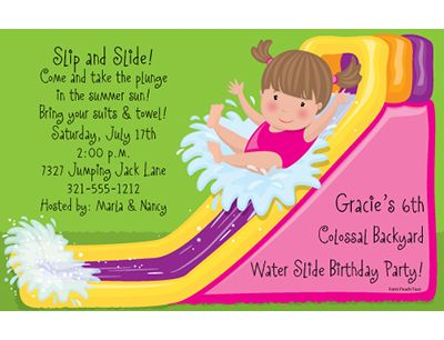 Download Now Water Slide Birthday Invitations Ideas