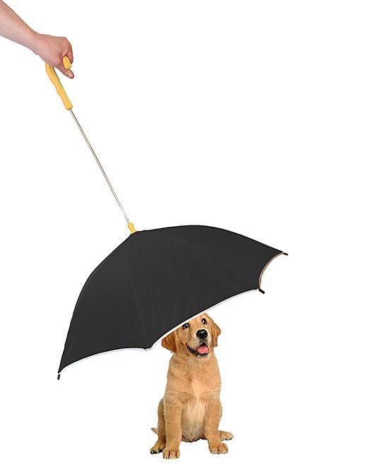 Pet Life Black Pour Protection Pet Umbrella Pampered Pooch