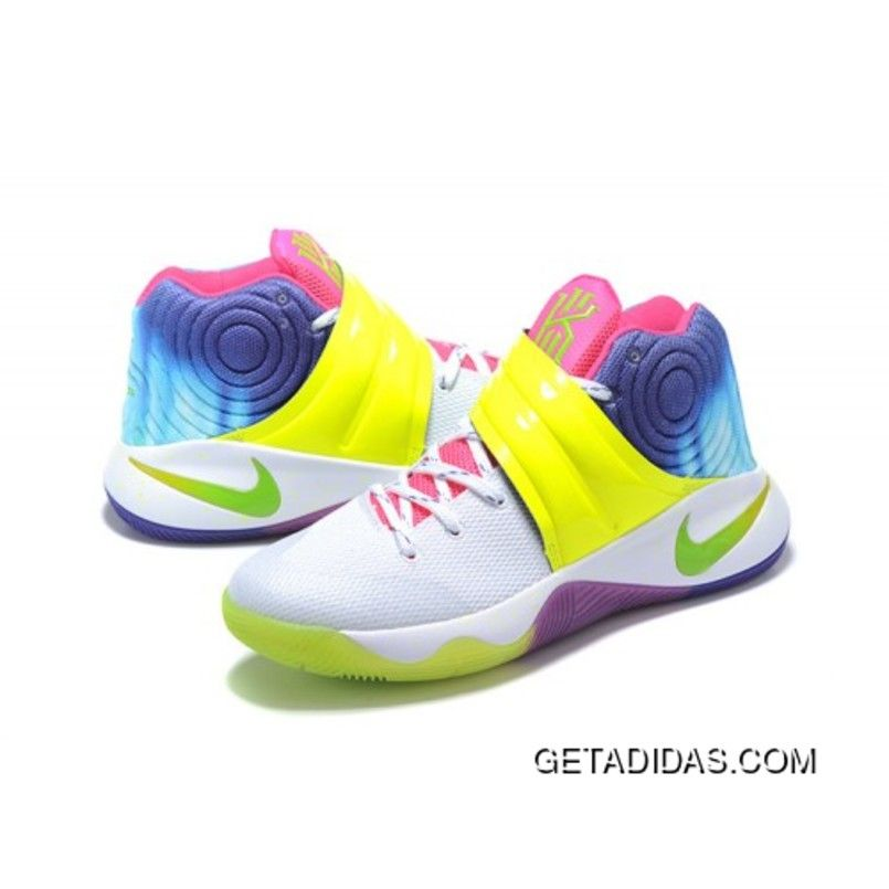 watch 9cb74 04726 ... buy nike kyrie 2 sneakers yellow rainbow basketball shoes new style  80c90 ddb9c