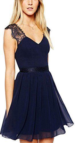 Waloneby Women's V Neck Backless Lace Chiffon Dress, http://www.amazon.com/dp/B01CQJG28Q/ref=cm_sw_r_pi_awdm_nXezxbHD5P653