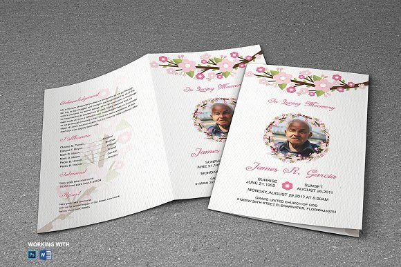 Funeral Program Template  Professional Brochure Templates