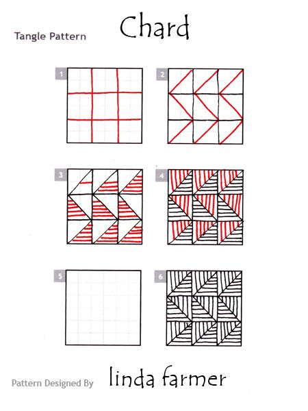 How To Draw Chard Zentangle Patterns Easy Zentangle Patterns