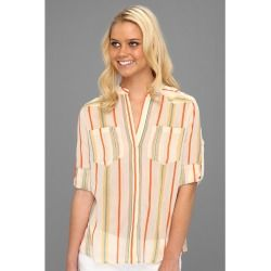 BCBGMAXAZRIA - Gibson Striped Shirt (Parfait Combo) - Apparel - product - Product Review