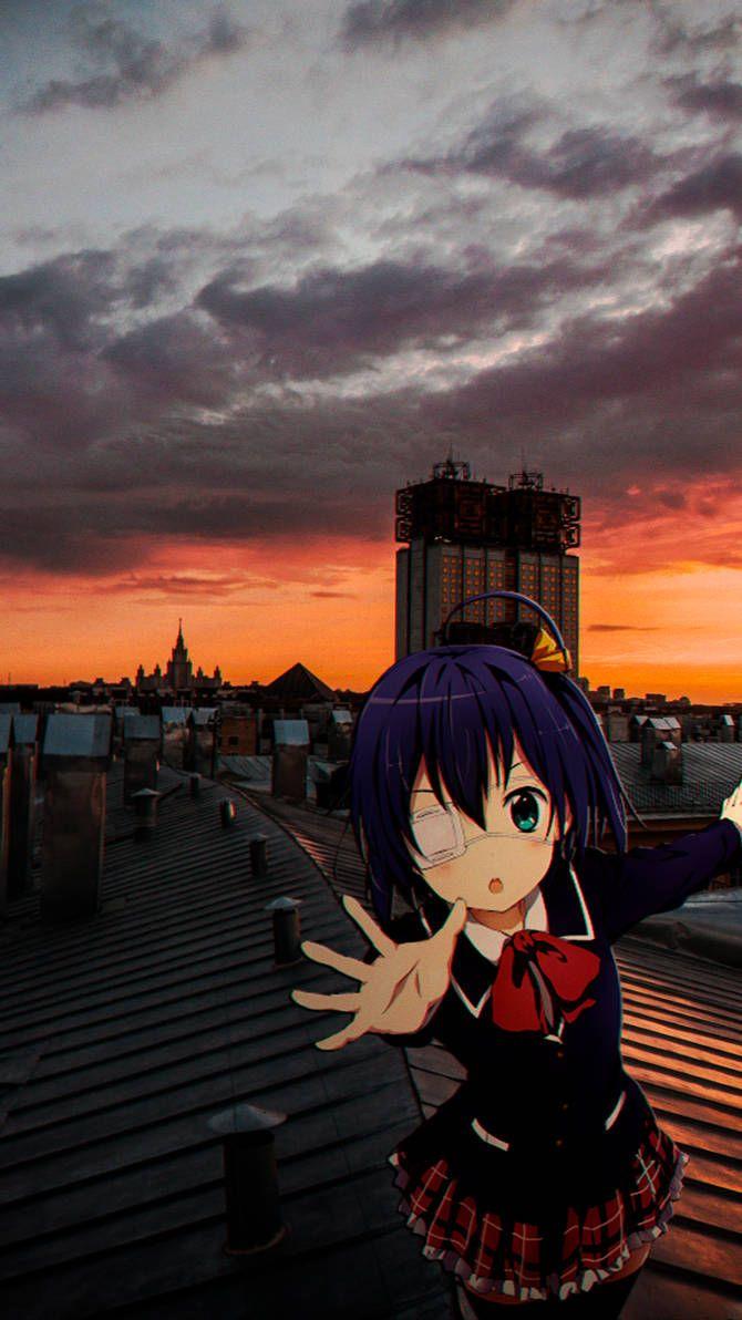 Rikka Takanashi on roof by NST069 on DeviantArt