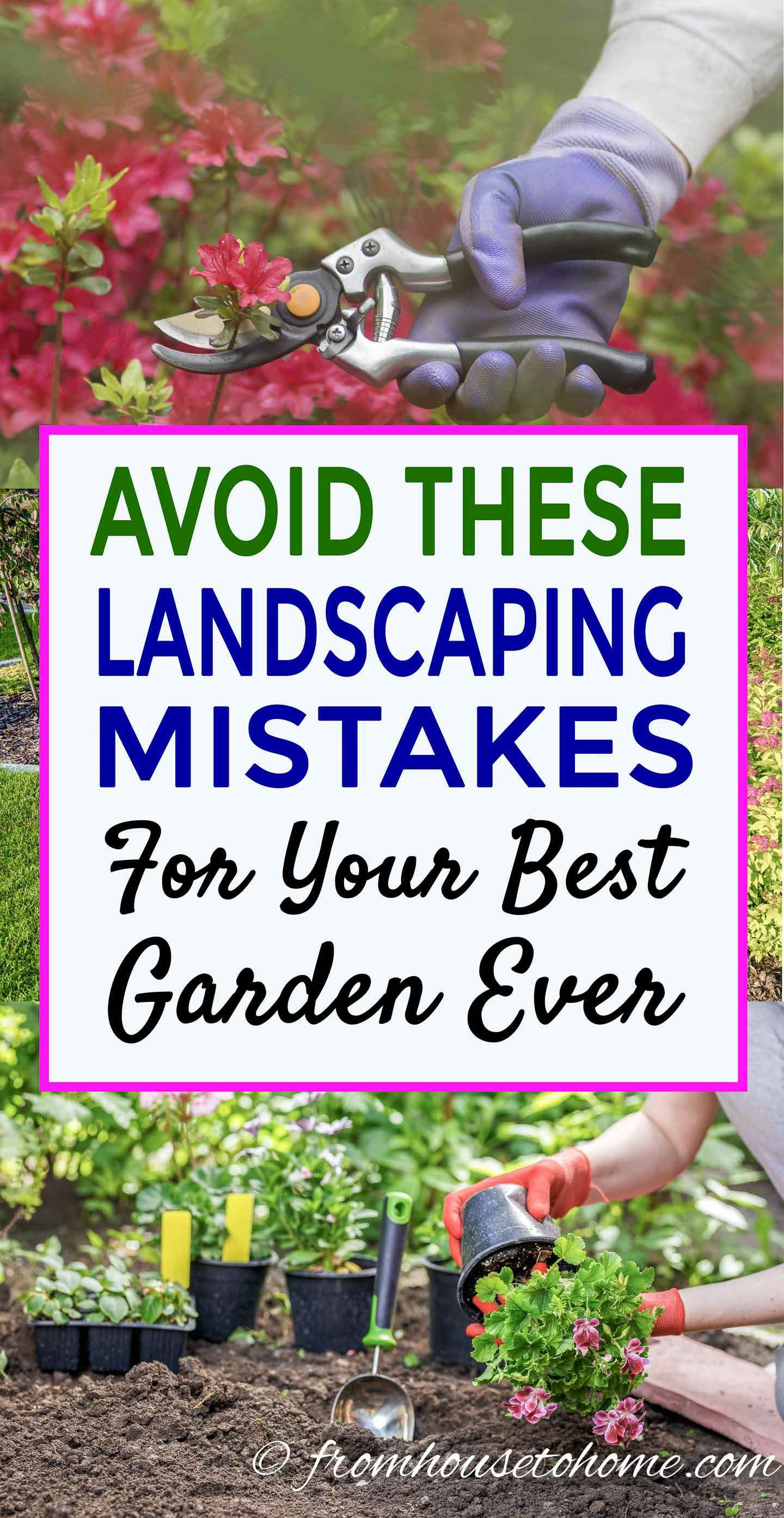 Avoid These 10 Landscaping Mistakes For Your Best Garden Ever - Gardening @ From House To Home