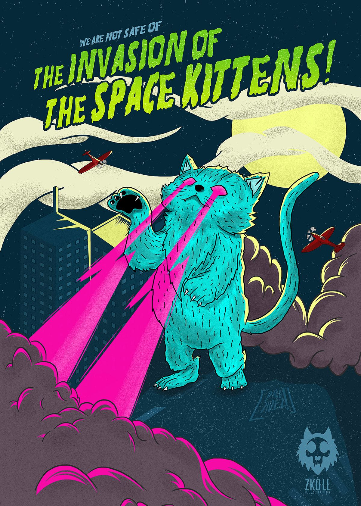 The Invasion of the Space Kittens on Behance