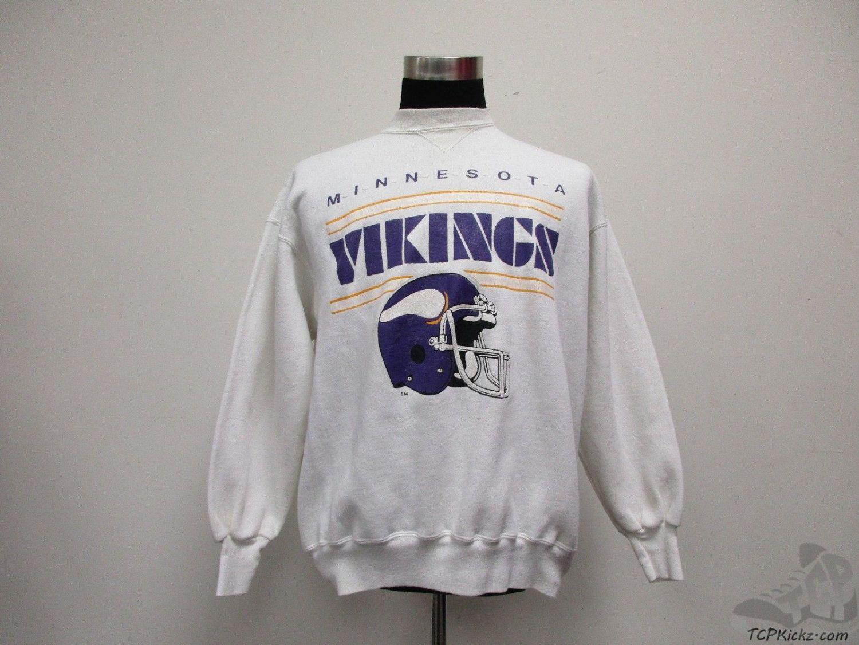 100% authentic c3ce8 f6cb5 Vtg 80s 90s Champion Minnesota Vikings Crewneck Sweatshirt ...