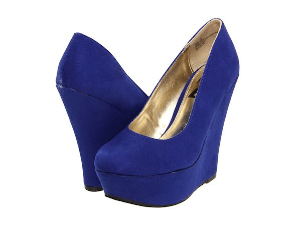 Royal Blue Wedge Heels#Prom | Shoes For Prom | Pinterest | Shoes ...