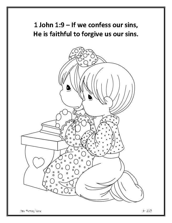 1 John 1 9 Google Search Bible Verse Coloring Page Bible