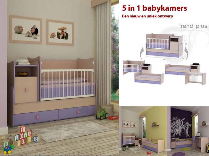 Trend plus babykamer 5 in 1 de nieuwe 5 in 1 baby en tienerkamer