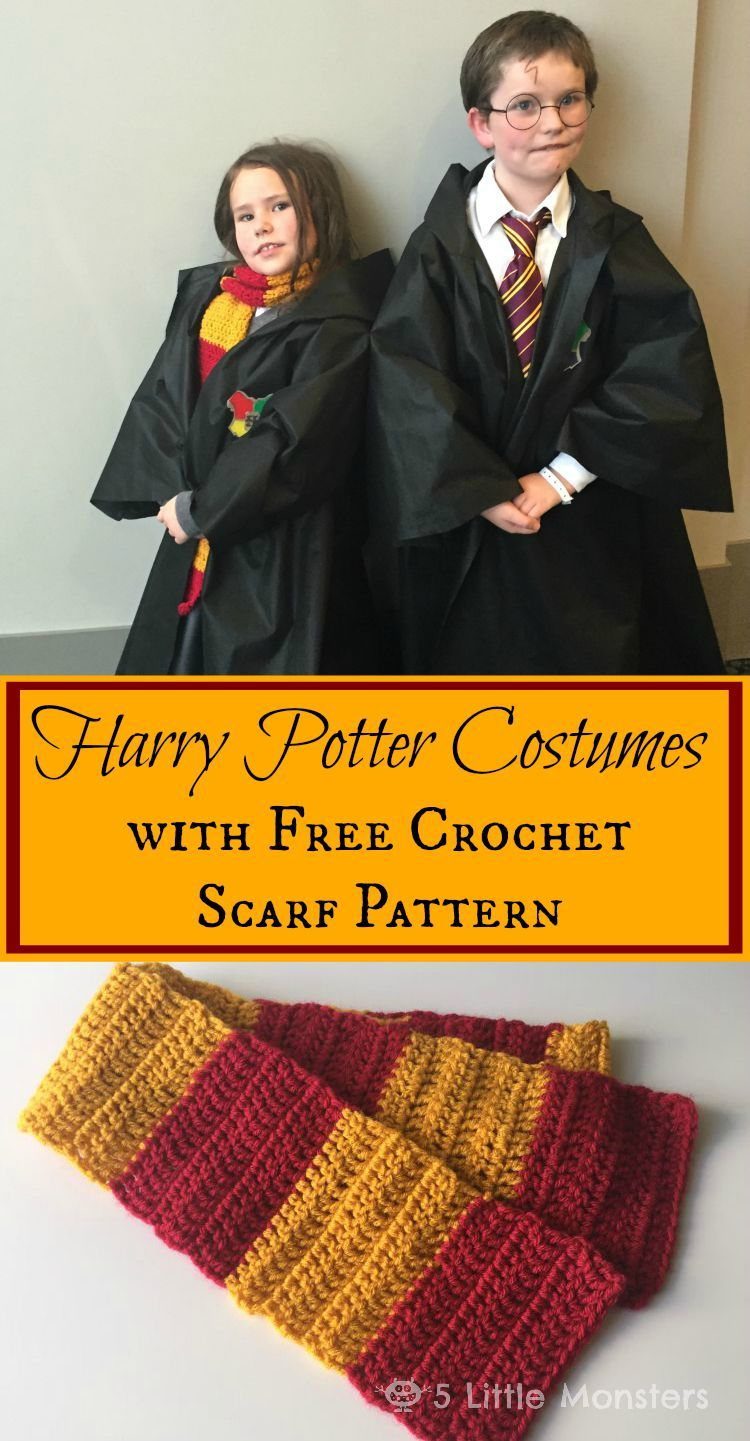 Harry Potter Outfits And Scarf Pattern Haken Enz Pinterest