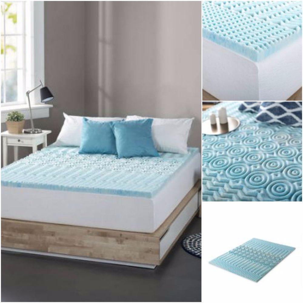 king size gel memory foam mattress topper Gel Memory Foam Mattress Topper King Size Bed Pad Cover Supportive  king size gel memory foam mattress topper