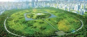 China Park, Gu Wenda's future city plan.