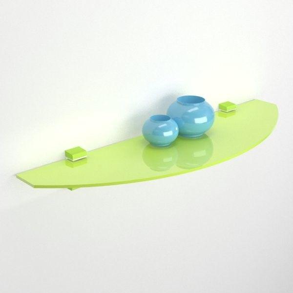 Mensola di vetro colorato disponibile in colore blu, arancio, verde e marrone. 15 Idee Su Mensole In Vetro Mensole Vetrate Mensola Angolare