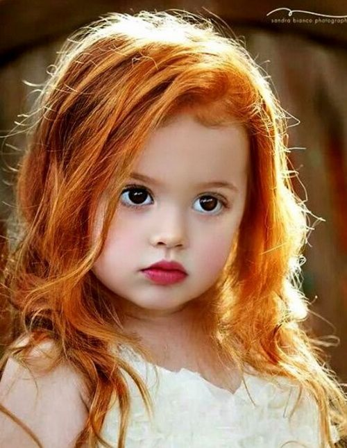 Admirable Cute Little Girl Hairstyles 2017 Long Red Hair With Messy Curls Hairstyle Inspiration Daily Dogsangcom
