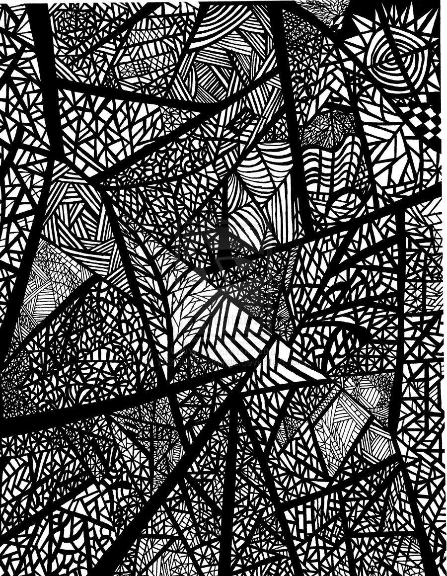 Gel Pen Abstract Ink Doodles Doodle Art Abstract Lines
