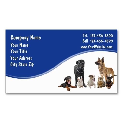 Pet Business Cards. Make your own business card with this great design. All you need is to add your info to this template. Click the image to try it out!