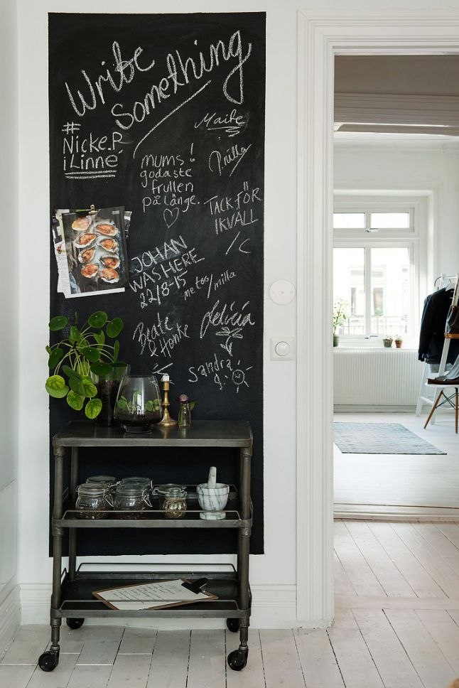 Un chien assorti deco kitchen blackboard wall radiators et blackboard wall - Mur ardoise cuisine ...