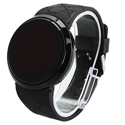 1e11676f979 NEW Black Mens Digital LED Circle Wrist Touch Screen Watch Water Resistant      To view further for this item