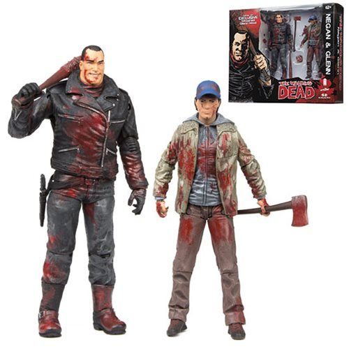 9014bc0e031f4a9181d368c6d3d8cad5 walking dead negan and glenn bloody action figure 2 pack walking