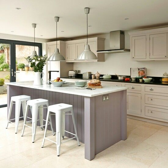 Lavender And Cream Two Tone Kitchen Kitchens For