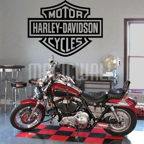 Harley Davidson Logo Wall Decals Stickers Harley Davidson Wall - Stickers for motorcycles harley davidsonsharley davidson decalharley davidson custom decal stickers