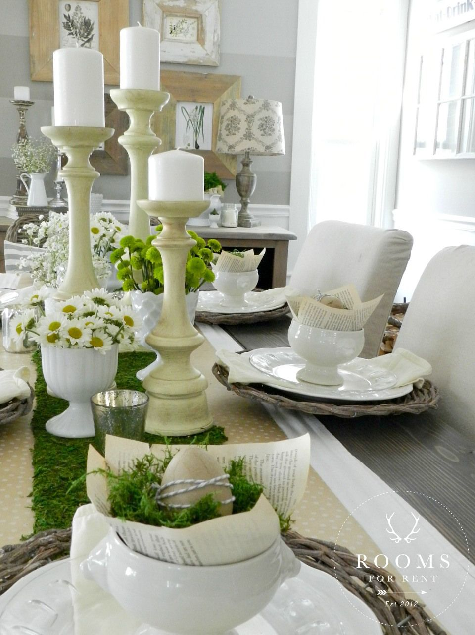 Spring Home Tour 2015 Easter Table Centerpieces Easter Table Decorations Candle Decor