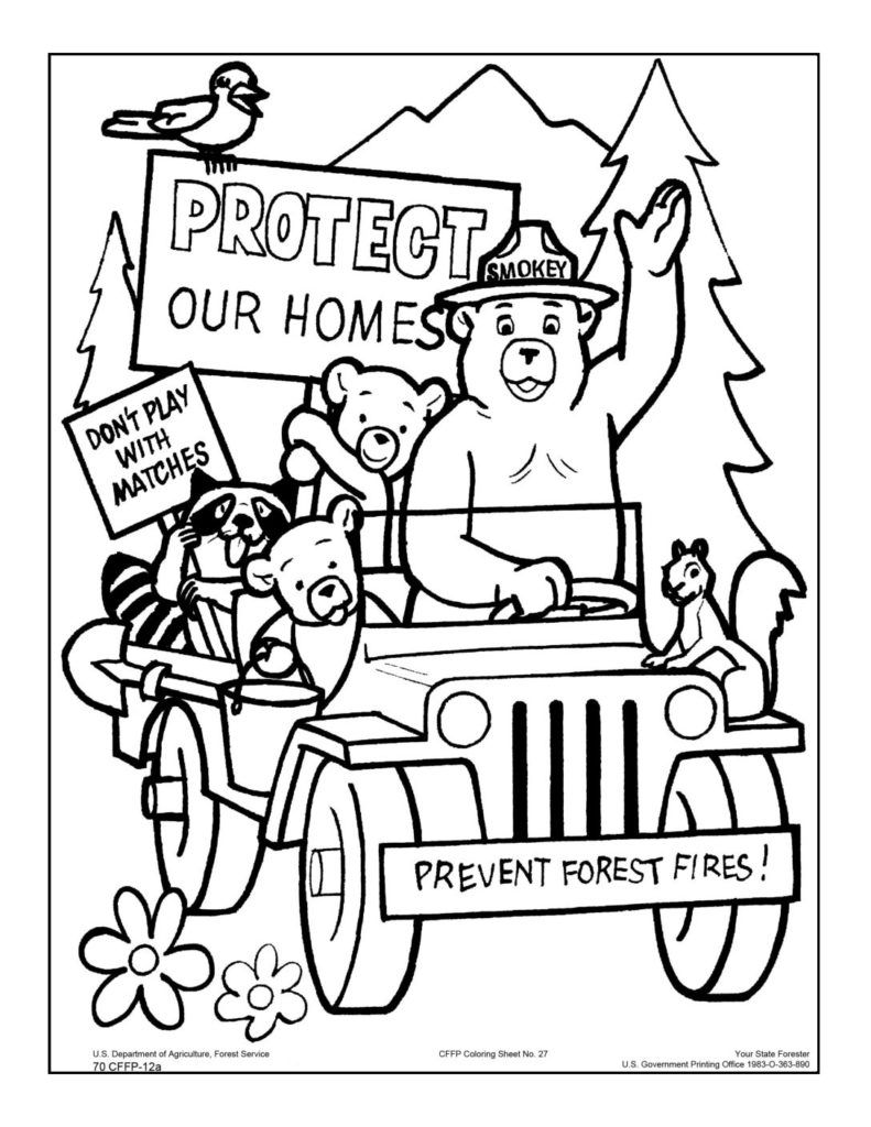 Smokey Bear Coloring Pages Bear Coloring Pages Smokey The Bears Coloring Pages