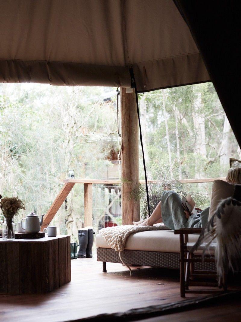 Paper Bark C& King Deluxe Safari Tent & Paper Bark Camp King Deluxe Safari Tent | ::Lux Glamping ...